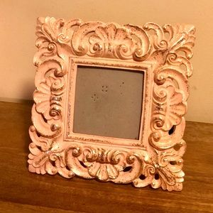 Pink, and gold glitter picture frame